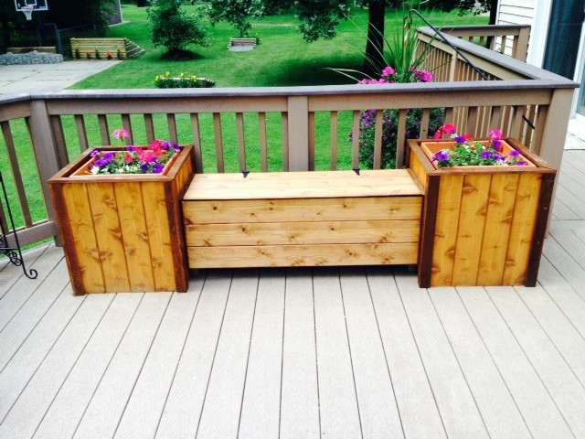 Astounding Large Storage Bench W Planters Andrewgaddart Wooden Chair Designs For Living Room Andrewgaddartcom